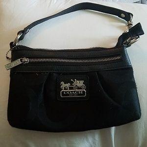 Coach all black wrislet/wallet